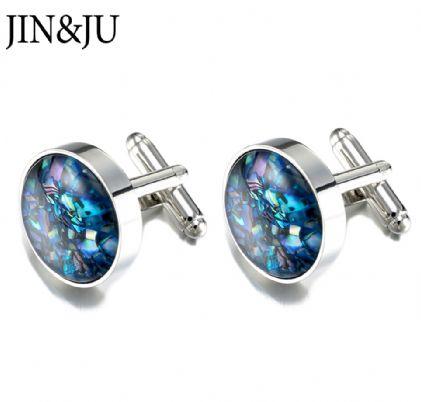 Hot Sale Wedding Gift cufflinks, Shell Fragments Sleeve Buttom Lawyer Groom Men Jewelry