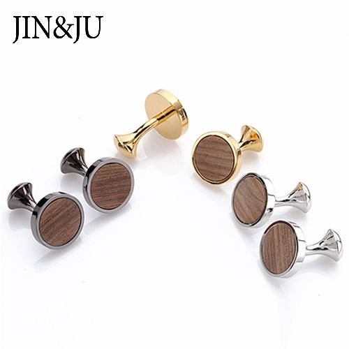 Round Wooden Cufflink with High quality standard for Men,2018 Hot Newest Men Jewelry