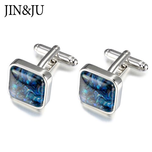 Men wedding jewelry cufflinks, High quality Gifts with Natural color Shell stones