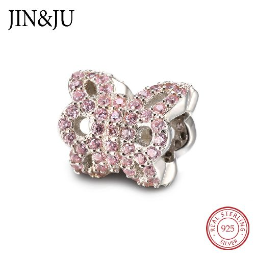 Newest Butterfly Design Beads Charm in Top Quality 925 Sterling Silver DIY Jewelry Gifts