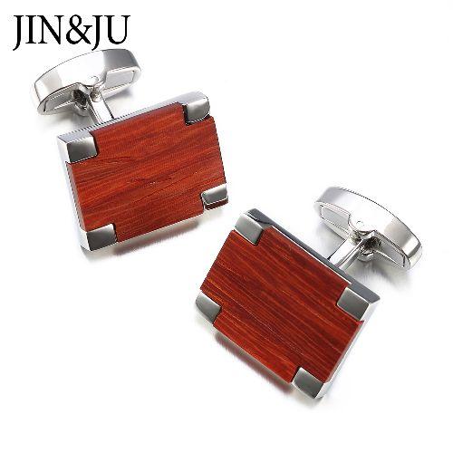 New Low-key Luxury Wooden Cufflinks high Quality Men Jewelry Shirt Cuff links