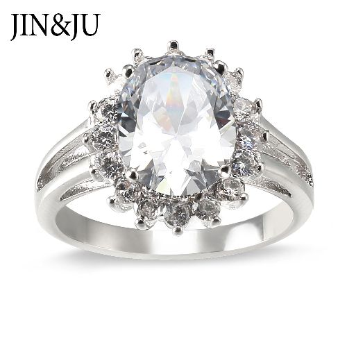 New arrives Ring styles with high quality CZ stones in Rhodium plated for Lady