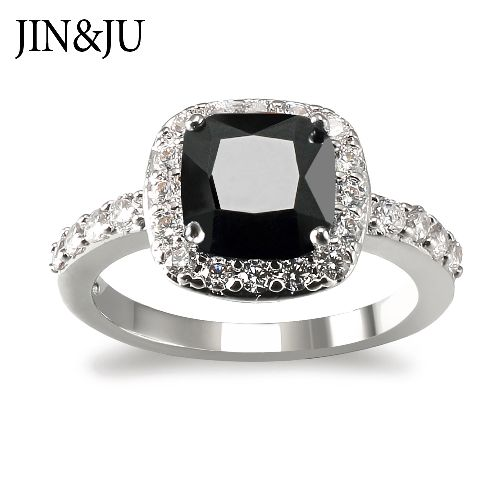 Simply Style Ring for Women with Imitation Black Diamonds Stone in high quality Jewelry Ring