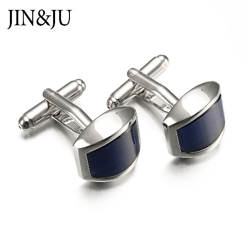 Top Quality Arc Cats Eye Stone Men Cuff Links Business Style Men Jewelry