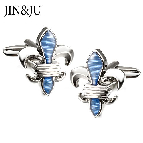 New Arrive Crudade Design Cuff links for Mens with Top Quality Cross Shape with Blue Enamel