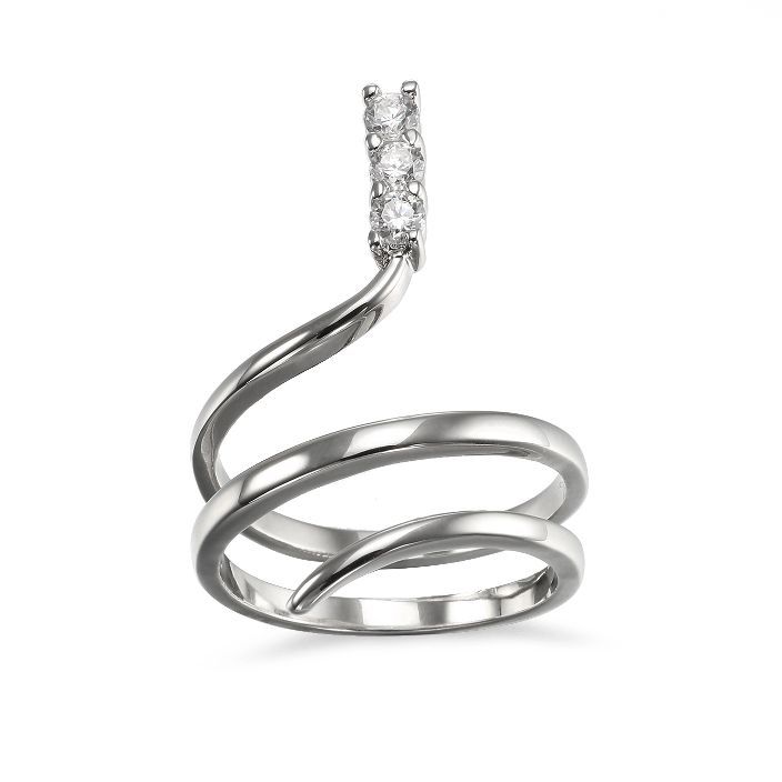 Popular Snake shaped Cocktail Ring for women Jewelry in Simply Style