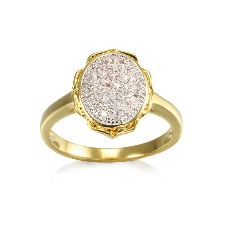 Top quality Gold plated pave CZ ring for Women