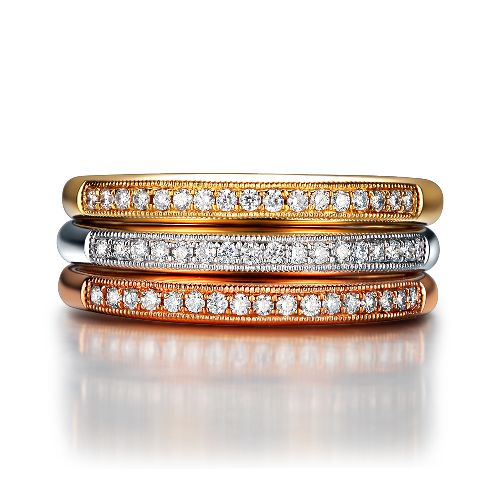 Top Quality Plated Wedding Ring sets in Classic Style for Women